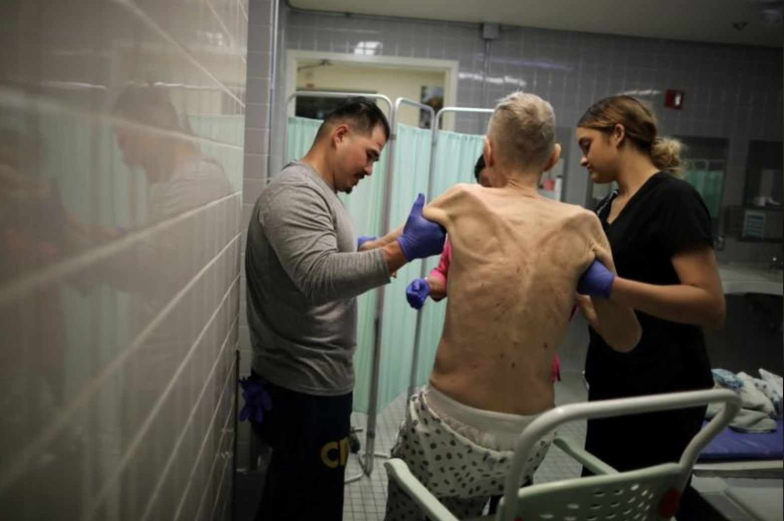 An Inmate being treated at a prison hospice